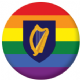 Ireland Gay Pride Flag 58mm Mirror Keyring